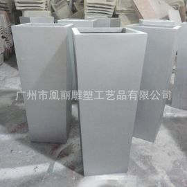 专业生产合成树脂FRP玻璃钢方形多肉植物组合花盆