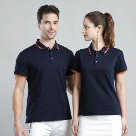 男式夏装翻领POLO衫半袖宽松工装工作服定制印制LOGO上衣短袖T恤