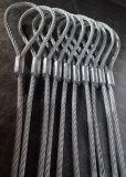起重吊索具 铝合金  钢丝绳吊索 钢丝绳  吊索具18mm*6m 可定制