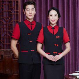 酒店工作服夏裝女 農家樂中式餐廳服務員短袖火鍋店工裝制服