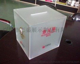 亚克力包装箱子, 有机玻璃磨砂箱子,半透明箱子,单双面磨砂