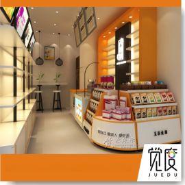 木质烤漆今磨房品牌展柜超市食品展示柜五谷杂粮展示架点心柜