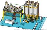 全自動拆包破袋氣力輸送存儲自動配料供料系統