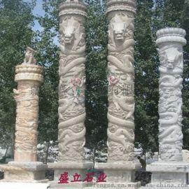 石雕华表柱 大理石文化柱 十二生肖柱大型景观盘龙柱