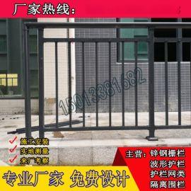 韶关别墅阳台通透性栏杆规格 小区镀锌钢管护栏 飘窗防护栏杆包安装