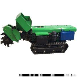 多功能除草机厂家 履带式开沟施肥一体机