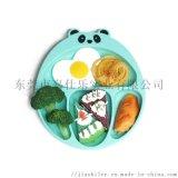 FDA食品级硅胶小熊餐盘 带吸盘防摔 宝宝餐垫
