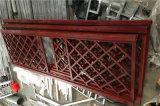 紅色隔斷門窗鋁窗花 不規則圖案隔斷仿古鋁窗花