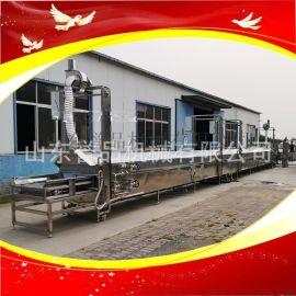 全自动链板式龙虾蒸煮机按需定制不锈钢材质