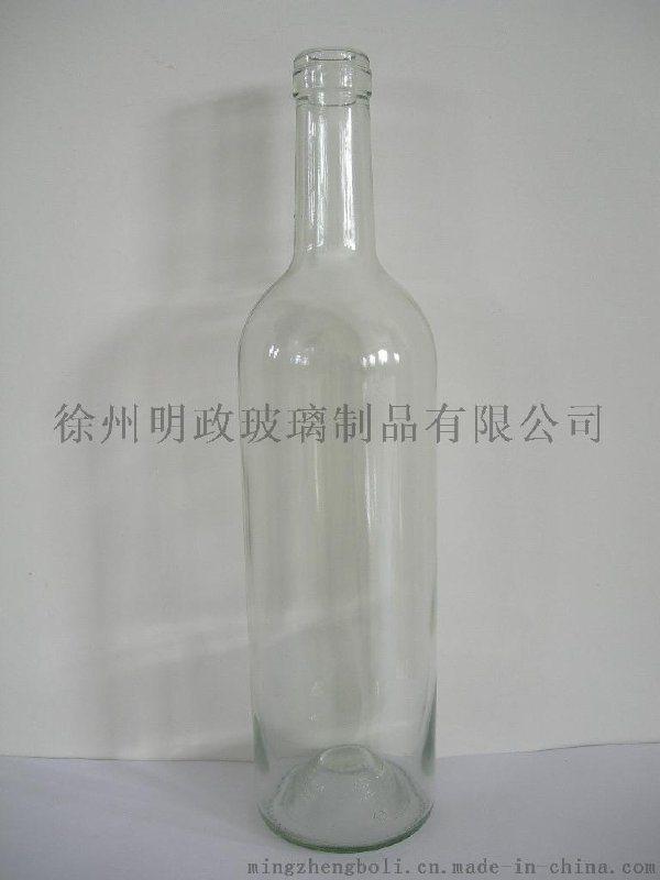 廠家生產定做 750ml白色波爾多乾紅瓶    瓶