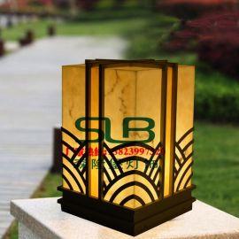 广东柱头灯厂家中式仿云石石柱灯公园园林景观灯祥云灯具定制非标工程灯具批发特色户外灯设计报价