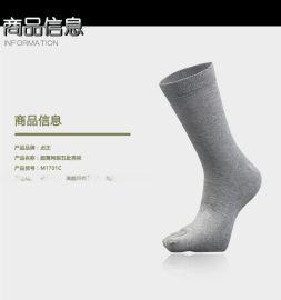 贞正五指袜 男士纯棉秋冬高筒薄款商务吸汗防臭分趾袜 厂家直销