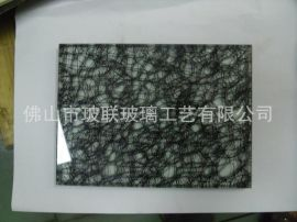 新品工藝玻璃加工 夾絲夾布夾絹玻璃 裝飾藝術玻璃