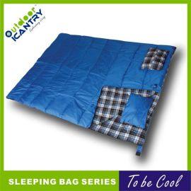 成人无需拼接睡袋情侣 双人睡袋 户外野营露营 四季纯棉