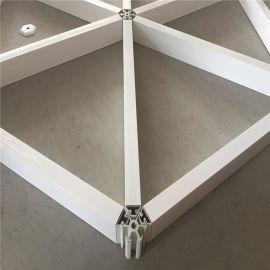 六边形铝格栅 造型组合六边形白色格栅吊顶