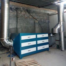 青岛喷漆漆雾处理环保设备,喷漆环评活性炭吸附装置