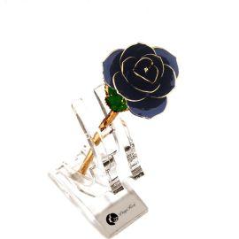 黛雅24K镀金玫瑰花 黑色 创意礼品 江苏地区植物工艺品批发