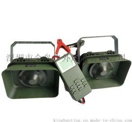 60瓦防水喇叭*2高分呗驱鸟器外接12伏电瓶鸟鸣器MP3配迷彩包
