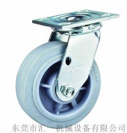 厂家直销  灰胶TPR电子厂静音轮 工业脚轮