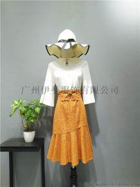 广州伊曼服饰品牌女装折扣欧若朵尔快时尚女装品牌尾货