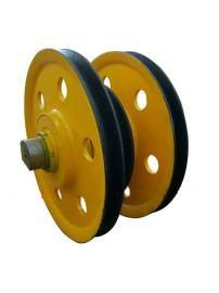起重滑轮组32T带夹轮,天车定滑轮组,铸钢材质