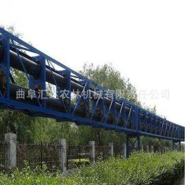 新疆管状皮带机 不锈钢输送机大提升量