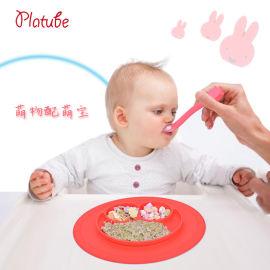婴儿硅胶勺子 宝宝卡通喂养软头训练勺餐具套装