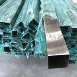安徽不锈钢方管,拉丝面201不锈钢方管