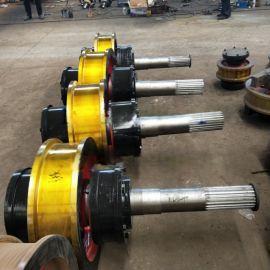 可定做天车锻钢车轮组Ø700×150车轮组淬火调制