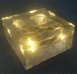 施路达10*10CM方形透明水晶太阳能地砖灯