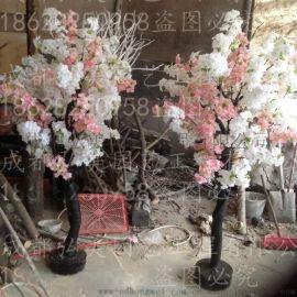 重庆假樱花树 重庆仿真樱花树 重庆婚庆樱花树 重庆假樱花生产批发