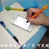 廠家直銷PVC軟膠圓珠筆 卡通公仔防塵塞圓珠筆 ball pen 可開模定製