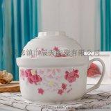 三件套食具密封碗陶瓷保鮮碗套裝 飯盒保鮮盒保鮮碗