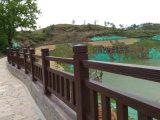 江西国标仿木栏杆 九江道路水泥仿木围栏施工