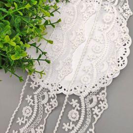 碎花网布刺绣花边棉线绣花花边内衣裙子装饰蕾丝花边