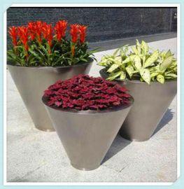 镀色不锈钢花盆家居园艺耐摔彩色不锈钢环保植物花盆