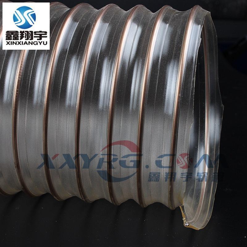 海德堡印刷机通风管,排气耐高温高压透明pu钢丝软管通风管80mm