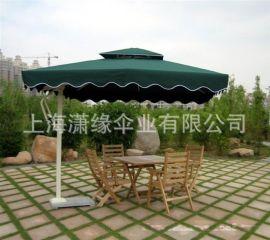 方形铝杆单边侧立伞 加印LOGO户外侧立庭院伞