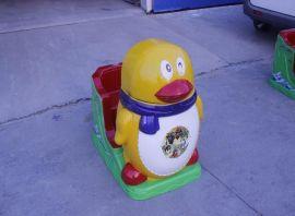 儿童企鹅电动投币摇摇车摇摆机