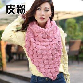 女款加厚针织围脖 韩版大披肩 针织围巾