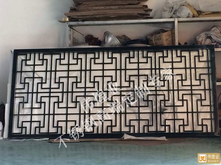 黑钛工字不锈钢屏风酒店屏风隔断