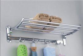 【宾宝莱】不锈钢活动架 折叠毛巾架 置物架 浴室/卫生间可翻转浴室架 浴室挂件