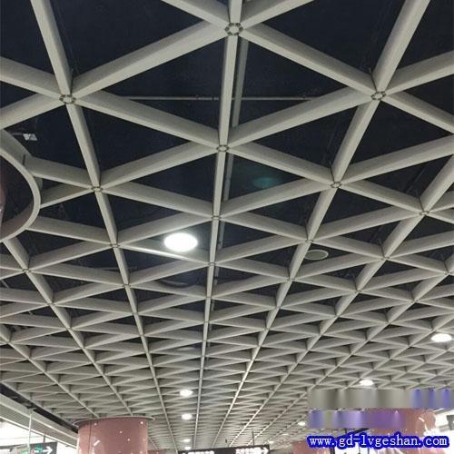 三角形铝格栅天花 铝格栅规格 山西铝格栅吊顶价格