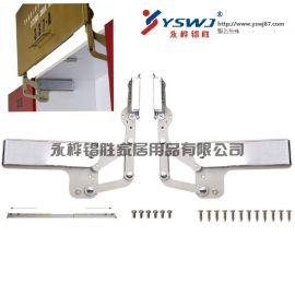 垂直上翻气撑 橱柜气动支撑杆 门重2-8kg YS337-A
