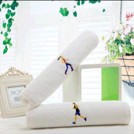迎春雨 纯棉运动巾厂家 健身跑步运动加长吸汗小浴巾洗澡洗脸大号卡通纯棉毛巾