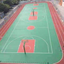 广西河池  塑胶跑道硅PU篮球场