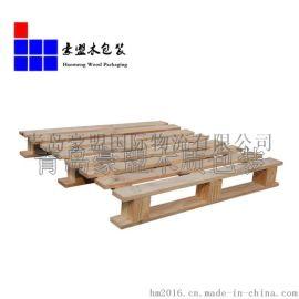 厂家直销青岛莱西市松木托盘仓库垫板 装卸重货装柜必备