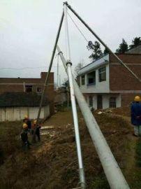陕西铝合金材质电力立杆器立杆施工一体