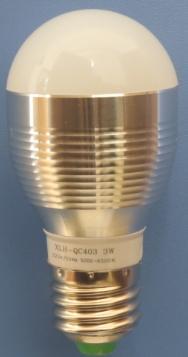 鑫龍海 3W球泡燈 (銀)金色