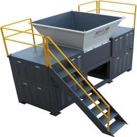 供应编织袋回收设备-新贝机械环保处理设备XB-D600型双轴撕碎机